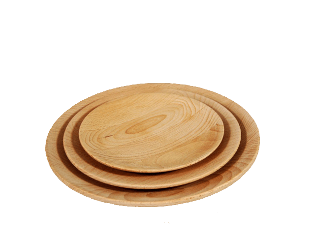 Wooden plates.