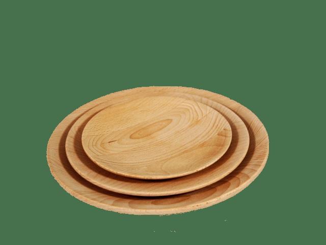 dřevěné talíře