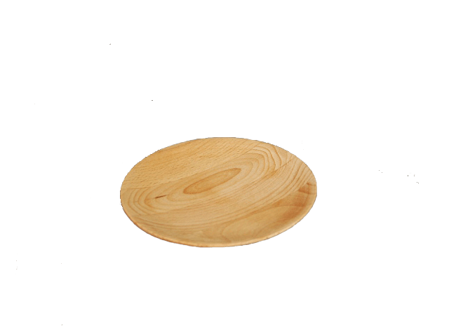 Wooden plate.