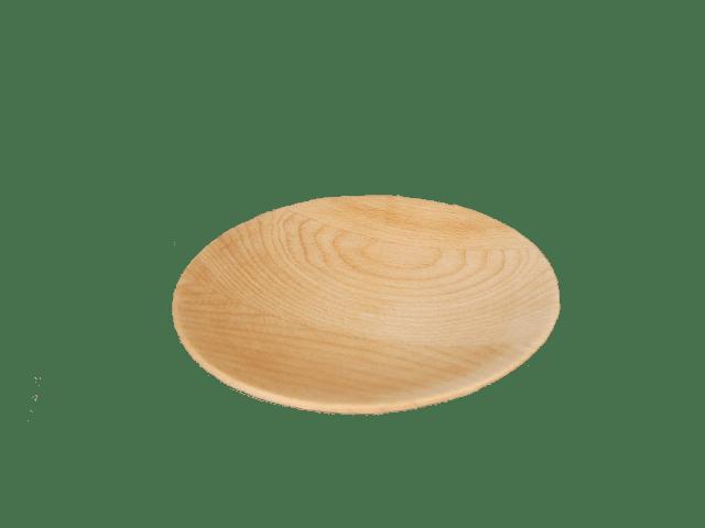 dřevěný talíř