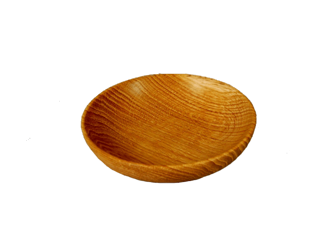 Oak wood bowl.