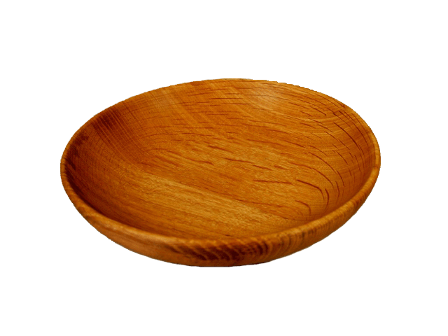 Wooden bowl.