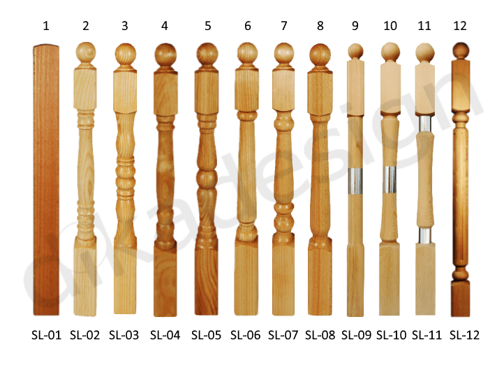 wooden stakes for staircases production
