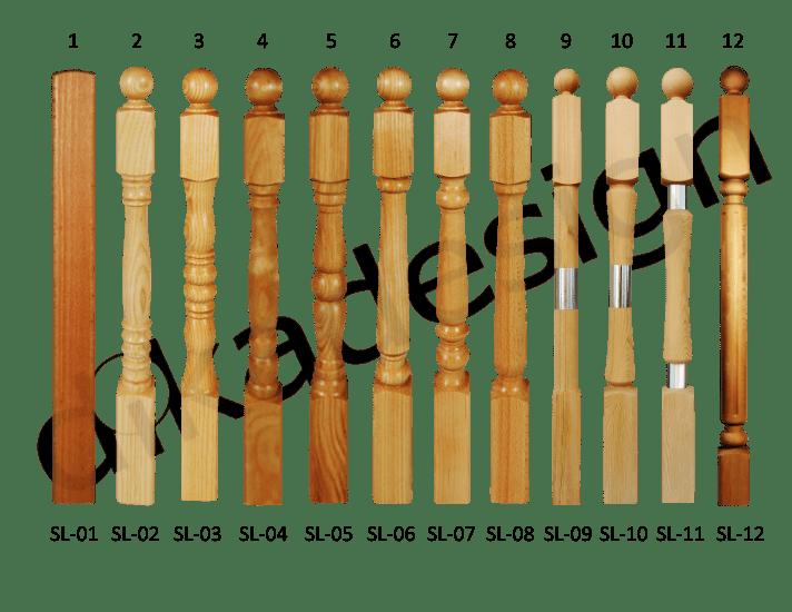 dřevěné sloupky